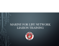 Marine for life network Training