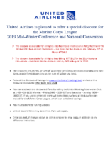 United Airlines Information Sheet – 2019 Mid-Winter and National Convention