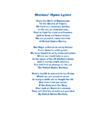 Marines' Hymn Lyrics