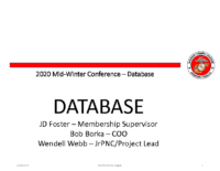 Database_Midwinter 2020